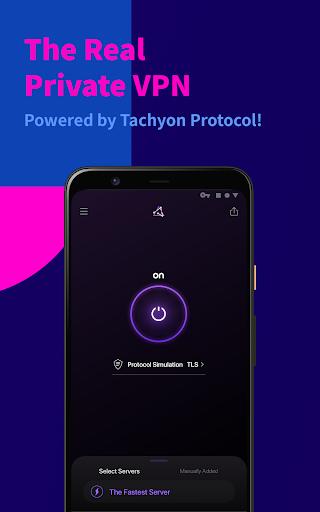 Tachyon VPN - Private Free Proxy 2.2.1 Screenshots 1