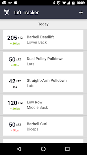 Lift Tracker Weightlifting Log- screenshot thumbnail