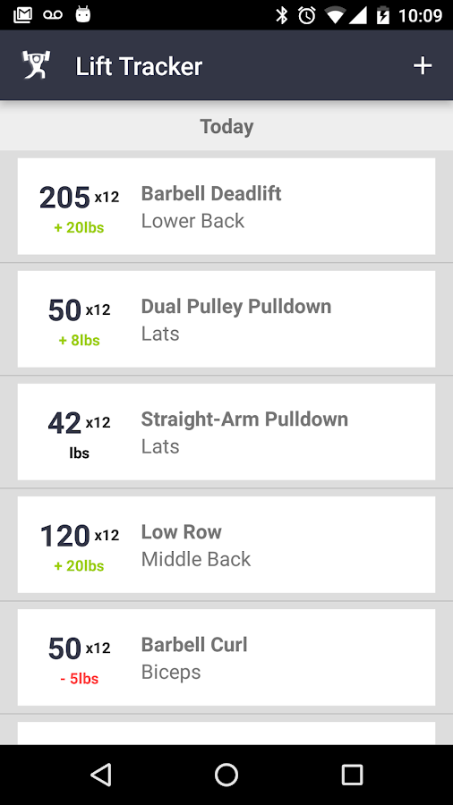 Lift Tracker Weightlifting Log- screenshot