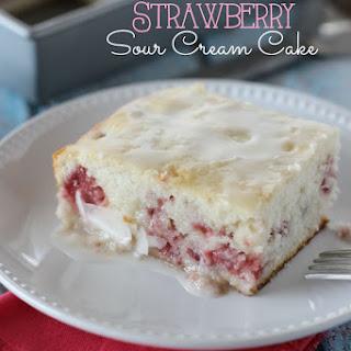 Strawberry Sour Cream Cake.