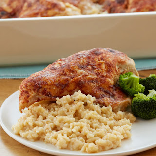 Easy Chicken with Rice Casserole.