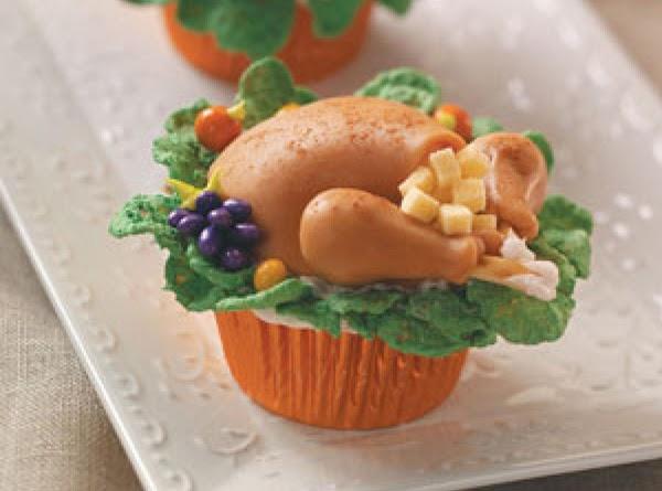 Turkey Dinner Cupcakes Recipe