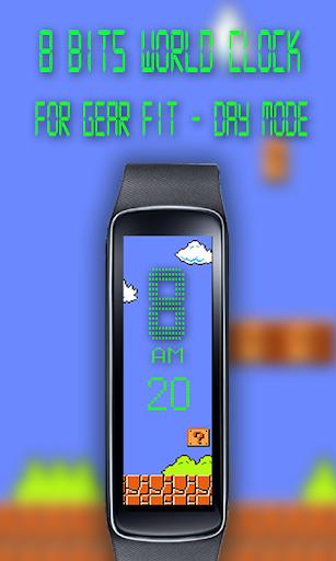 Gear Fit 8 Bits World Clock