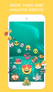 Wave Animated Keyboard + Emoji - náhled