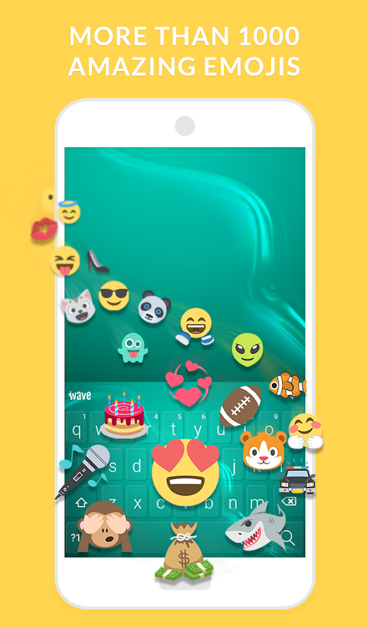 Wave Animated Keyboard + Emoji- screenshot