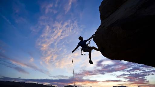 Rock climbing. Live wallpaper