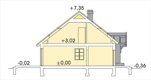 Azalia II wersja D z podwójnym garażem - Przekrój