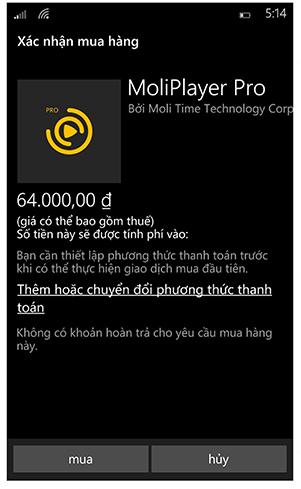 Mua ứng dụng Windows Phone bằng thẻ TRUSTcard - 130006