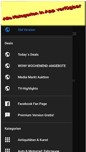 1€ auctions on ebay Germany Android App Screenshot