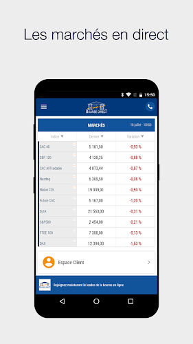 Bourse Direct Android App Screenshot