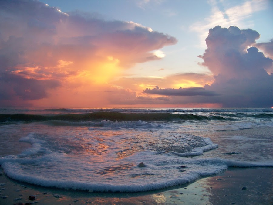 Soft and Sensual by Val Brill - Landscapes Beaches ( clouds, water, beach, sun )