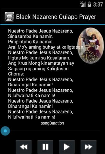 Black Nazarene Quiapo Prayer