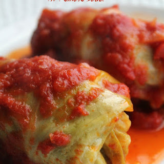 Stuffed Cabbage in Tomato Sauce