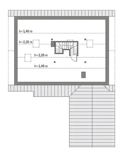 Rumiankowy - wariant I - C310a - Rzut poddasza