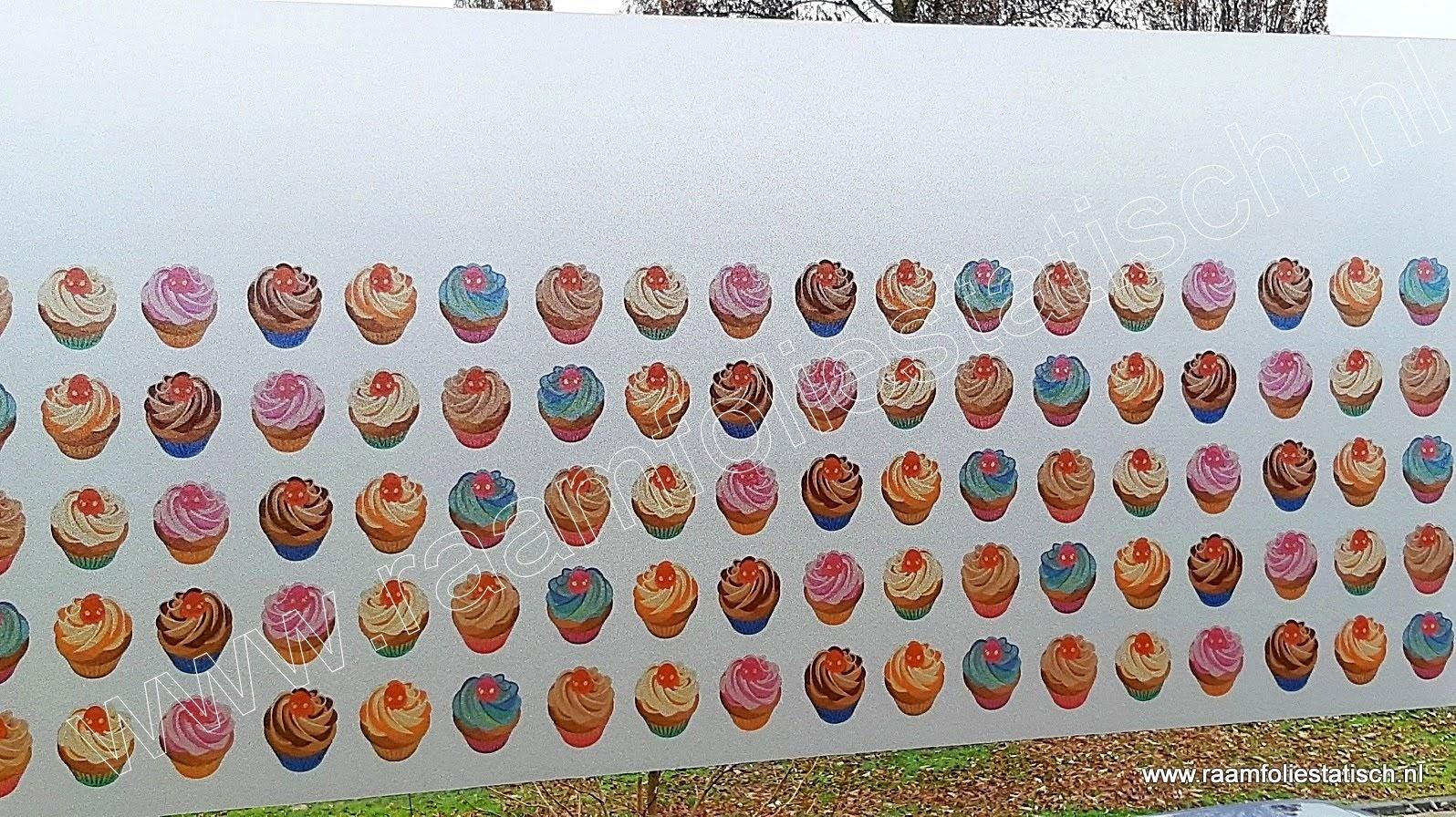 Statische raamfolie cupcakes