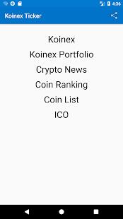 Koinex Ticker - náhled