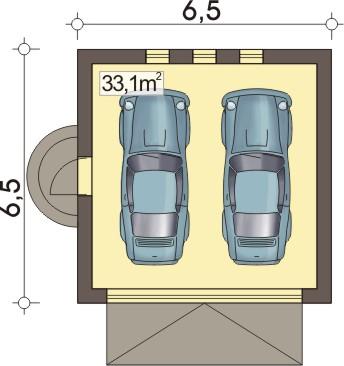 B2 - Rzut garażu