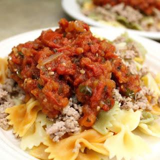 Homemade Cabernet Tomato Basil Sauce