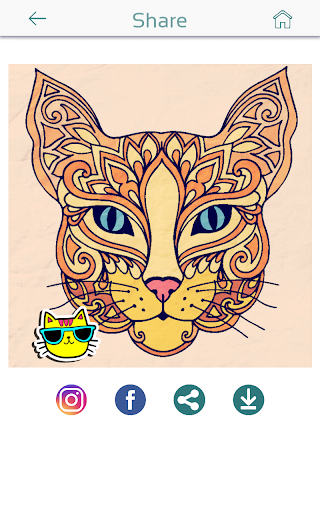 Download cat coloring pages for adults for pc Coloring book for adults apk