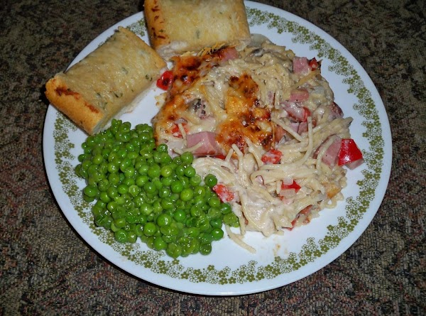 Serve with some nice sweet peas and a crusty bread. Enjoy!