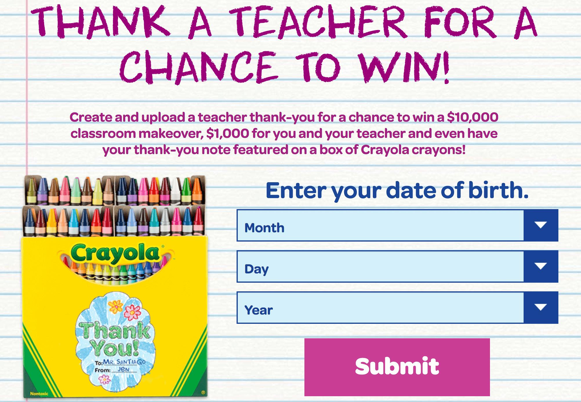 szkoła reklama crayola