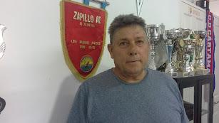 Juanjo en la sede del Zapillo Atlético.