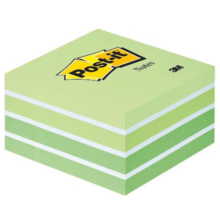 Post-it kub 76x76 grön