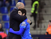 Le coach de Genk Philippe Clement et son joueur Leandro Trossard évoquent l'absence de Pozuelo en Play-Offs 1
