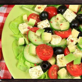 Cucumber Avocado Caprese Salad