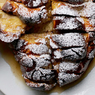 Hasselback Challah French Toast.