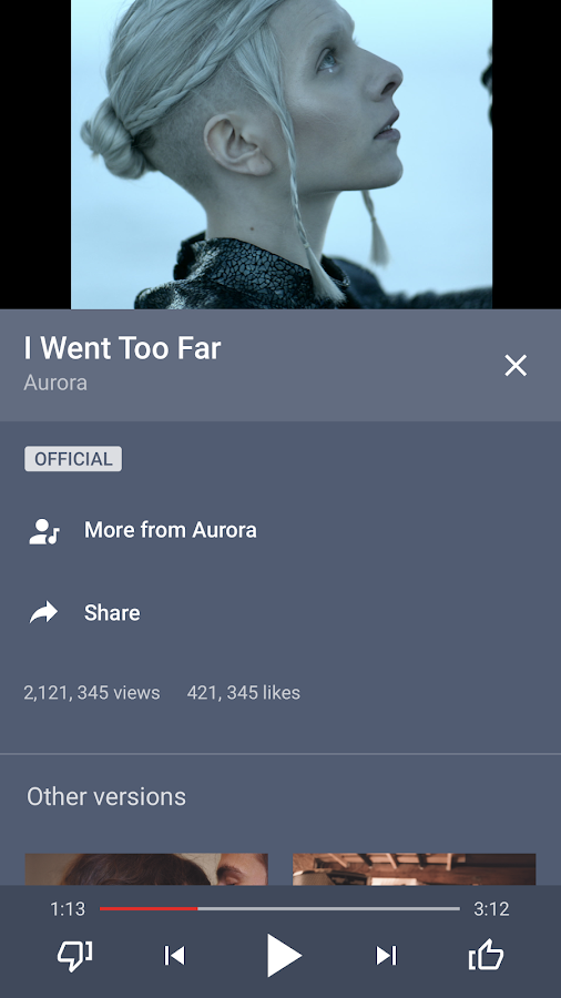 Screenshots of YouTube Music for Android