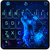 Live Sparkle Wolf Keyboard Theme