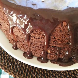 Chocolate Walnut Potato Cake with Chocolate Ganache Frosting