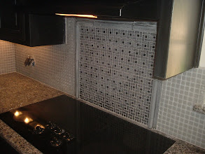 Photo: finished back splash job.