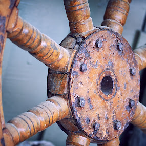 Rusty Wheel by Svemir Brkic - Artistic Objects Antiques ( hilton head, wheel, rusty, steering, boat,  )