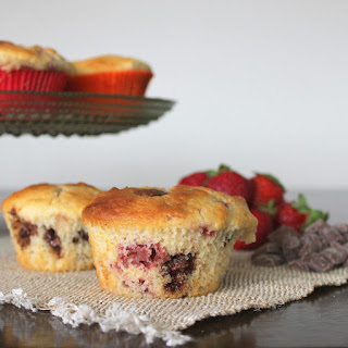 Strawberry Choc Chip Muffins