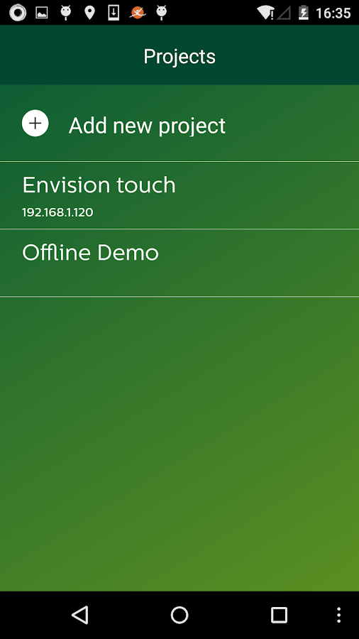 EnvisionTouch- screenshot