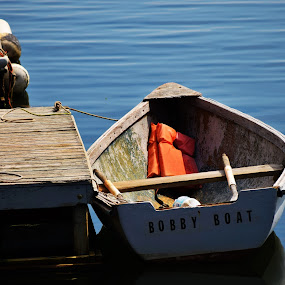 your dinghy awaits you by Moe Cusick - Transportation Boats ( water, camden, ocean, dinghy, boat, coast,  )