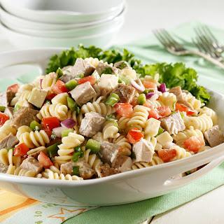Rotini Pork Salad with Fresh Basil.