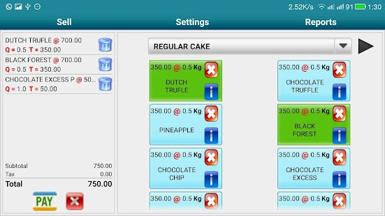 Bakery Mobile POS Software- screenshot thumbnail