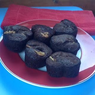 Gluten-Free Chocolate Peanut Butter Banana Muffins.
