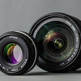 Dslr lens  by Dan Ungur - Artistic Objects Technology Objects ( nikon, sigma, presentation, digital, analog, 50mm, coating, dslr, lens, camera )