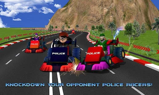 Kids Police Car Racing screenshot 1