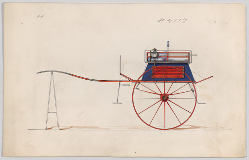 Design for Dog Cart or 2 Wheeler, no. 4117