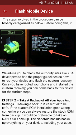 Flash Dead Mobile Phone Guide App Report on Mobile Action - App