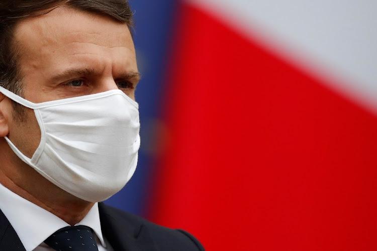 法国总统埃马纽埃尔·马克龙。文件的照片。