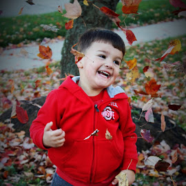 Fun in the Leaves by Michelle Brush - Babies & Children Children Candids (  )