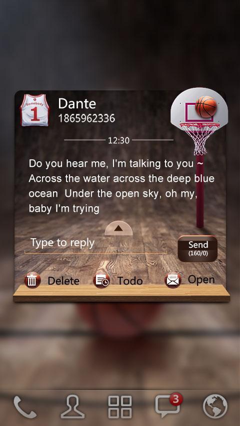 Скриншот GO SMS PRO DUNK THEME