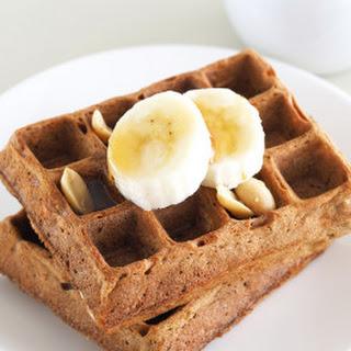 Peanut Butter Banana Waffles (Gluten-Free)