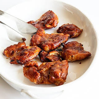 Honey BBQ Oven Baked Chicken Thighs.